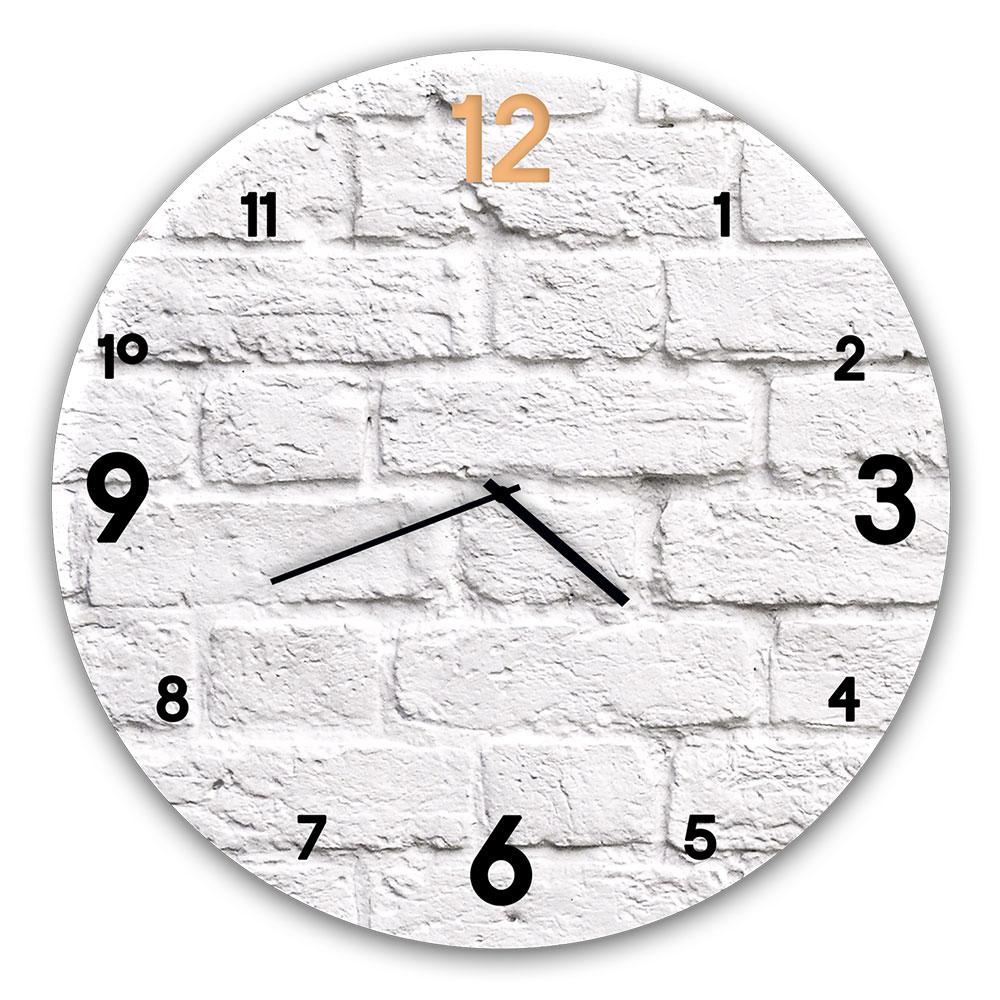 Szklany zegar BRICK