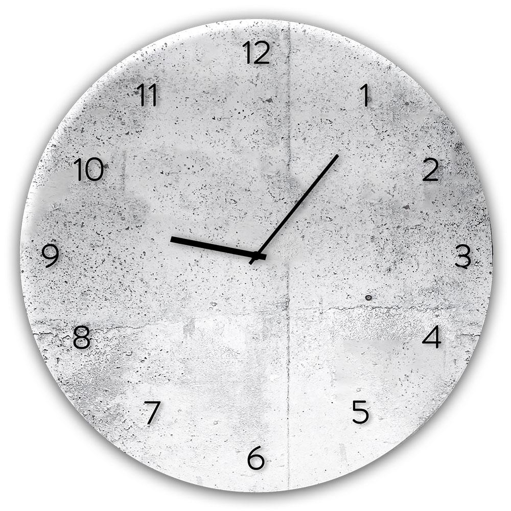 Szklany zegar WALL
