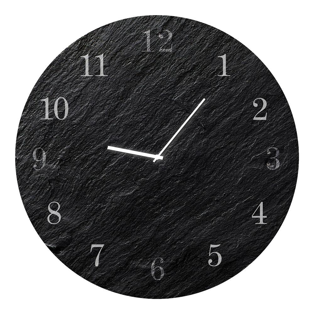 Szklany zegar CARBON