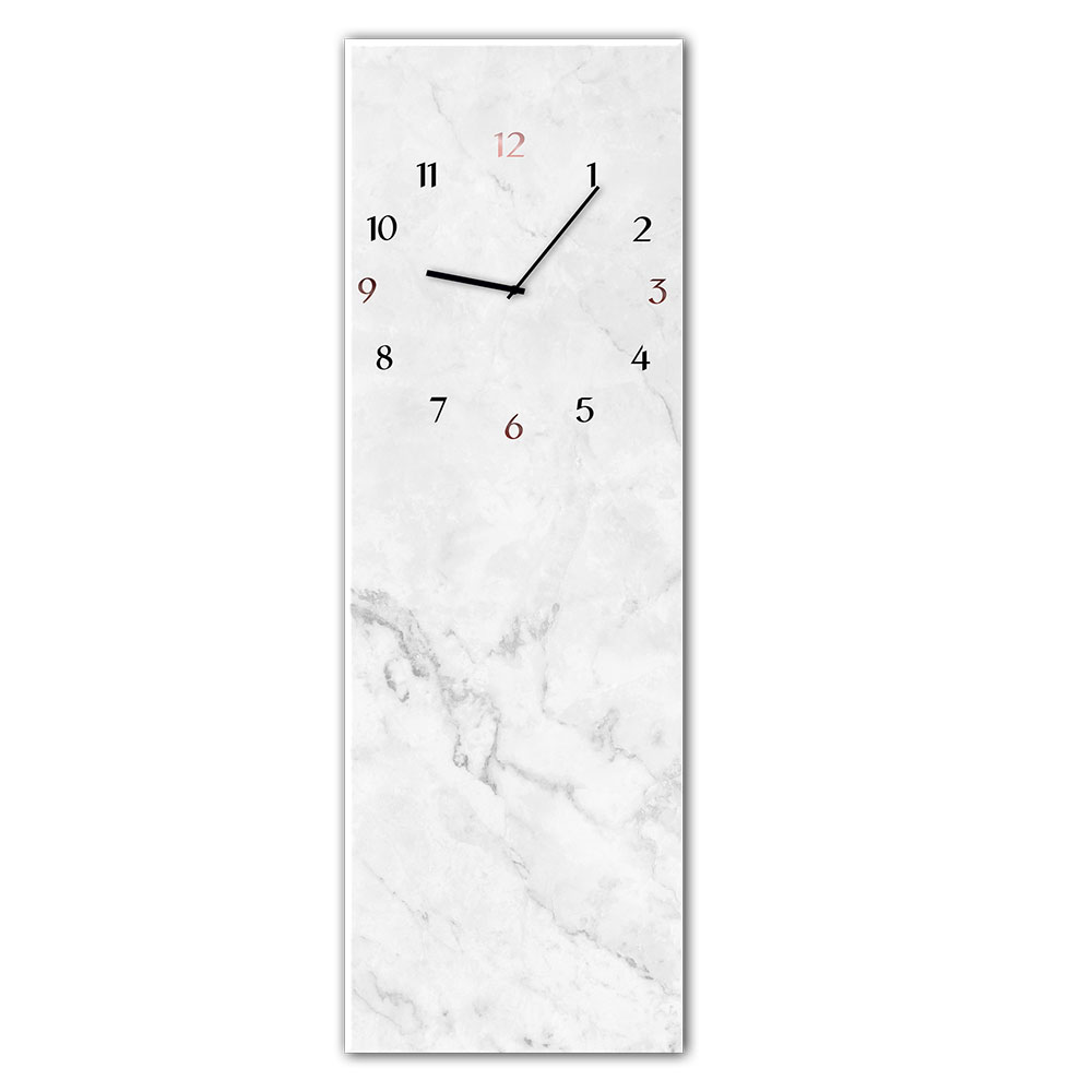 Szklany zegar MARBLE