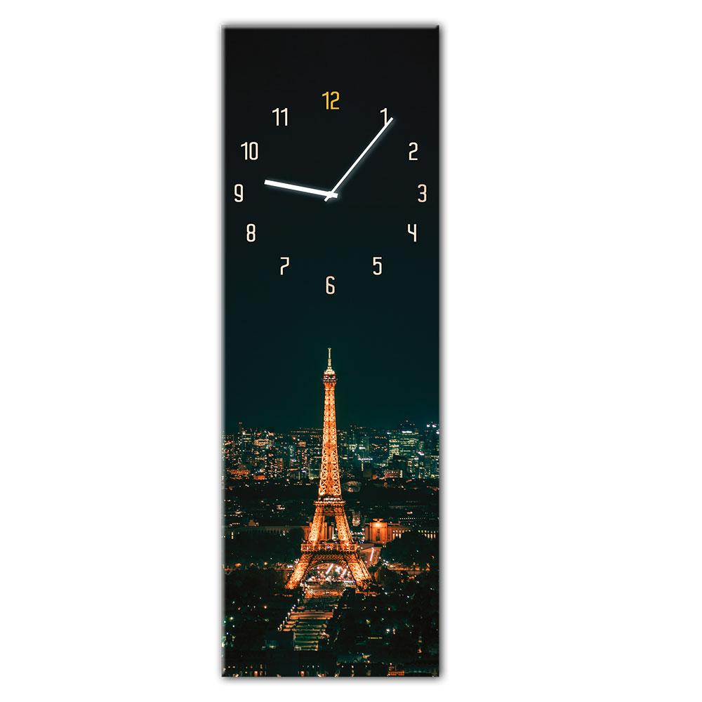 Szklany zegar PARIS
