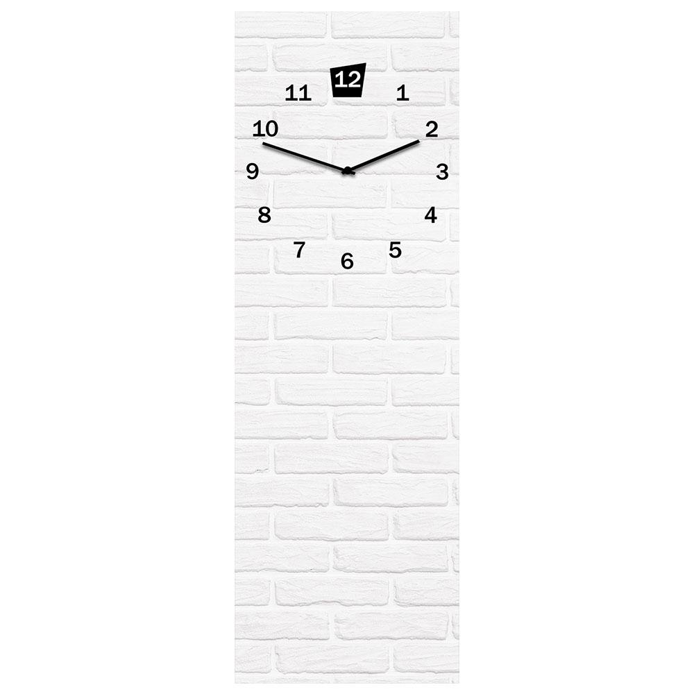 Szklany zegar WHITE