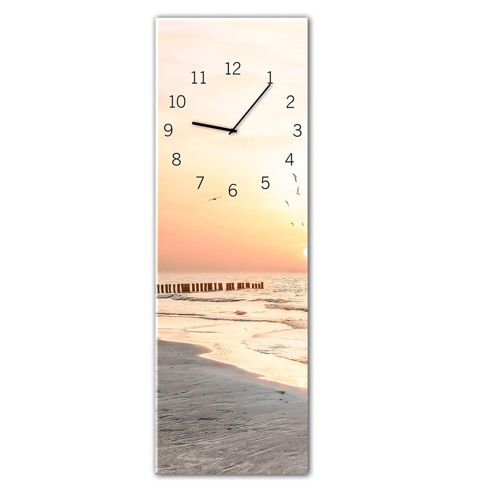 Szklany zegar BEACH
