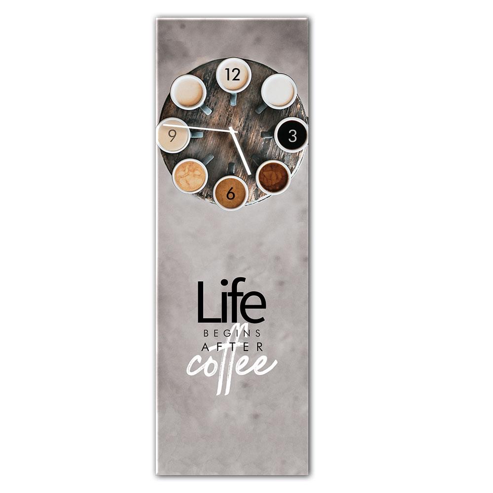 Szklany zegar COFFEE