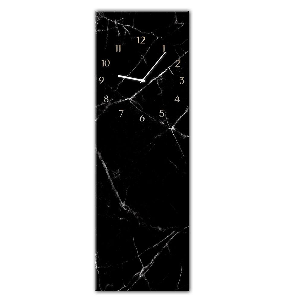 Szklany zegar BLACK MARBL