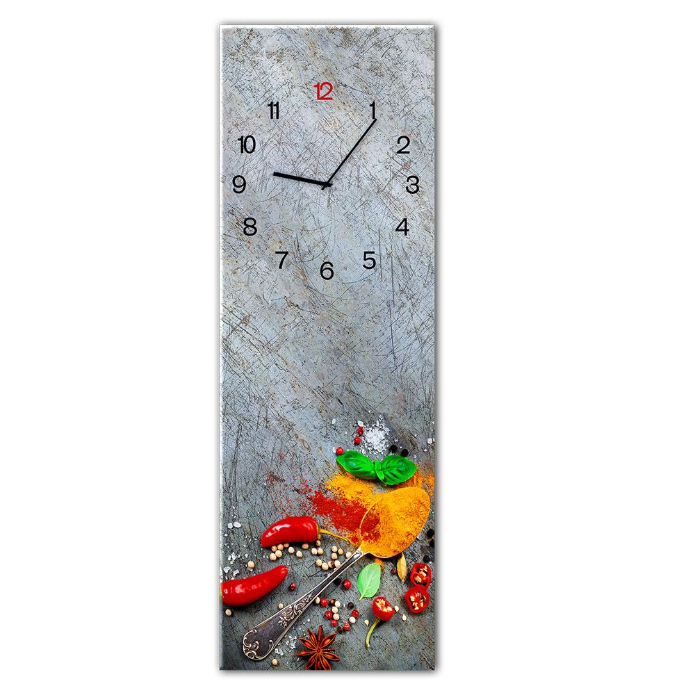 Szklany zegar SILVER SPOON