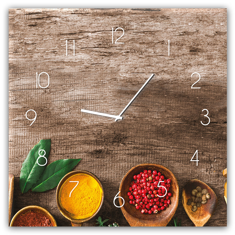 Szklany zegar PEPPER
